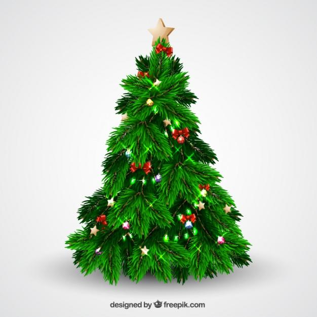 Vektörel Gerçekçi Yılbaşı Ağacı