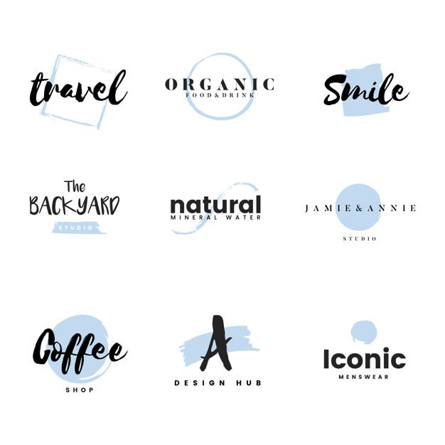 Vektörel 9 Adet Logo Tasarımı