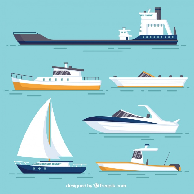 Vektörel Gemi Çizimleri