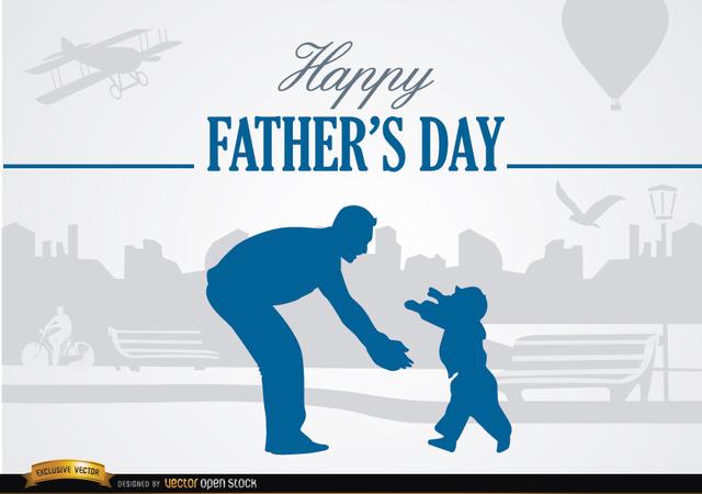 Vektörel Babalar Günü Kart Tasarımı