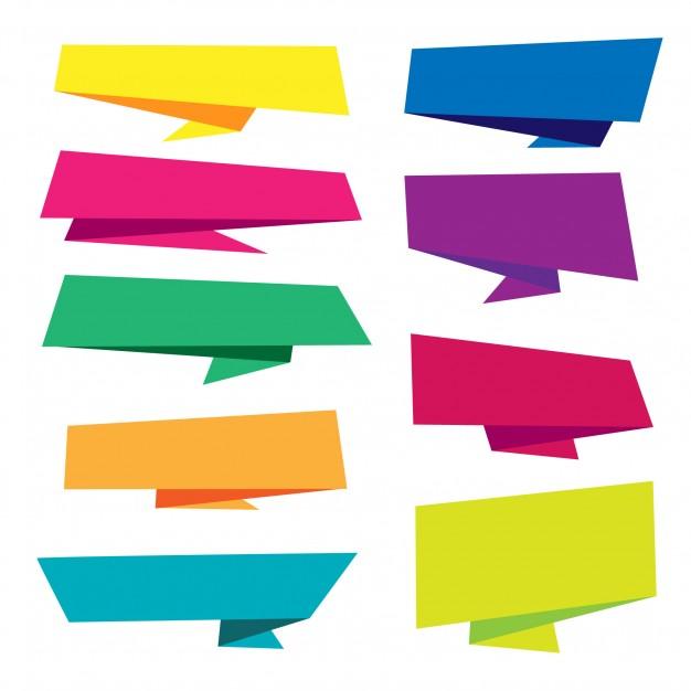 Vektörel Origami Banner