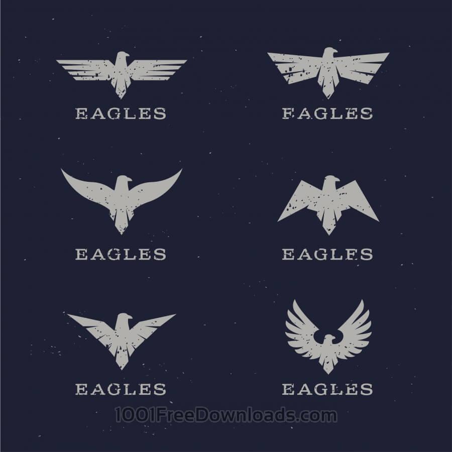 Vektörel Kartal Logo Çizimleri