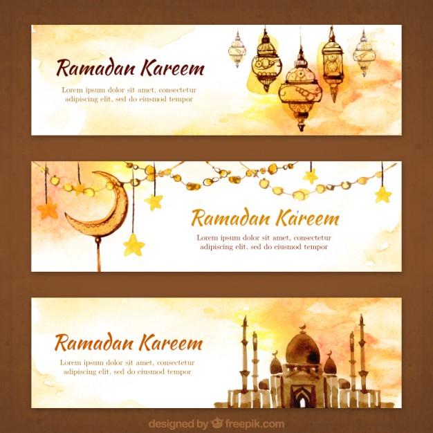 Vektörel Ramazan Ayı Banner Tasarımı