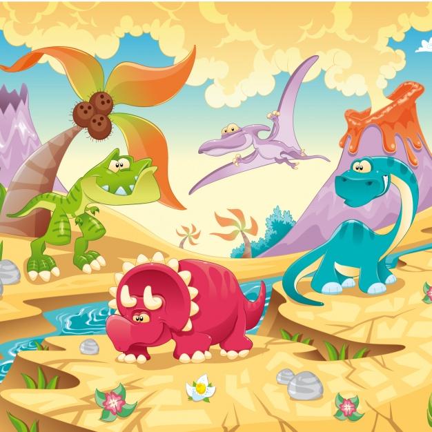 Vektörel Dinozor Çağı