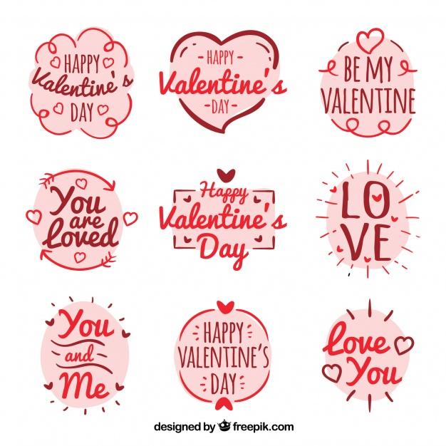 Vektörel Sevgililer Günü Etiketler