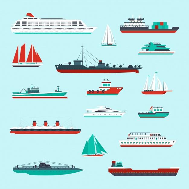 Vektörel Gemi Koleksiyonu