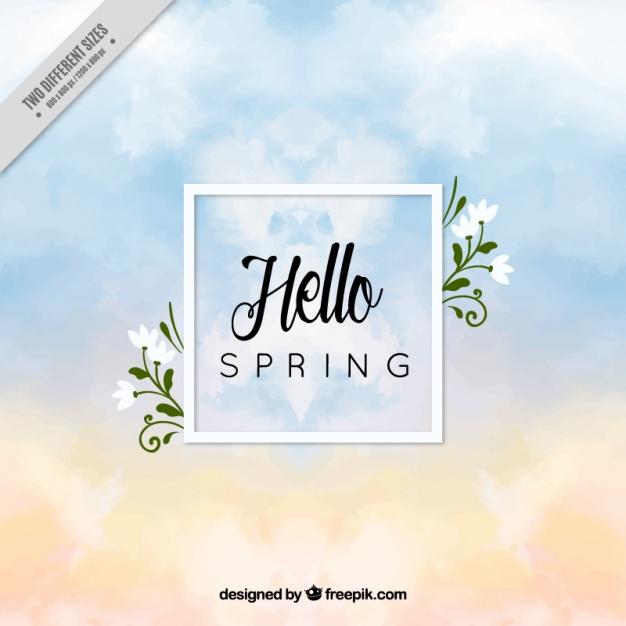 Vektörel İlkbahar Davetiye