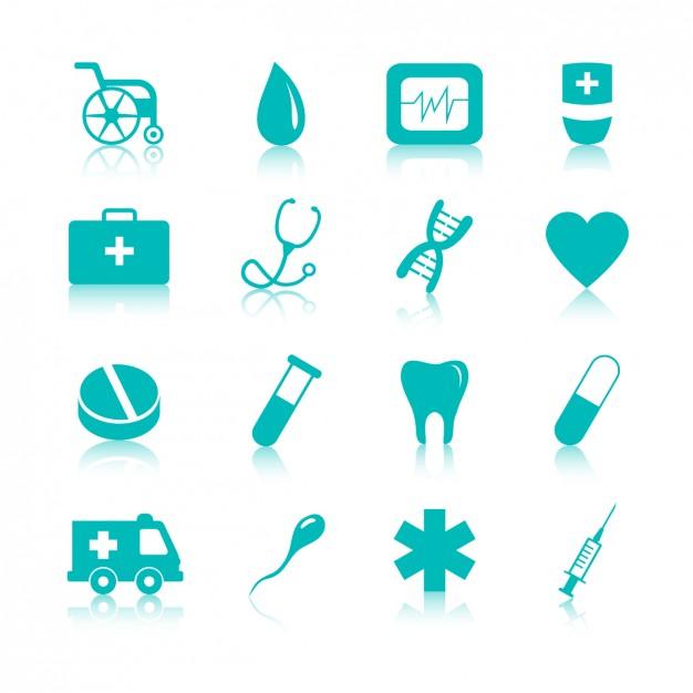 Vektörel Medikal İkonlar