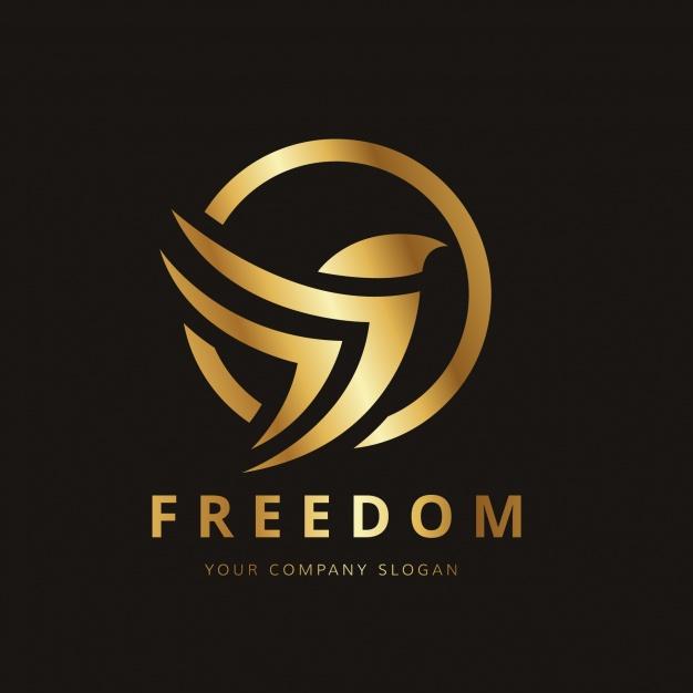 Vektörel Altın Kuş Logo