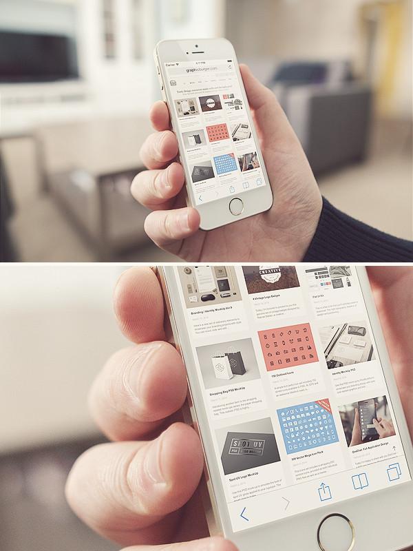 Oturma Odası iPhone 5s MockUp