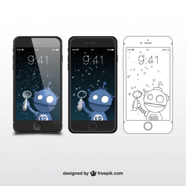 Vektörel iPhone Telefon Tasarımı