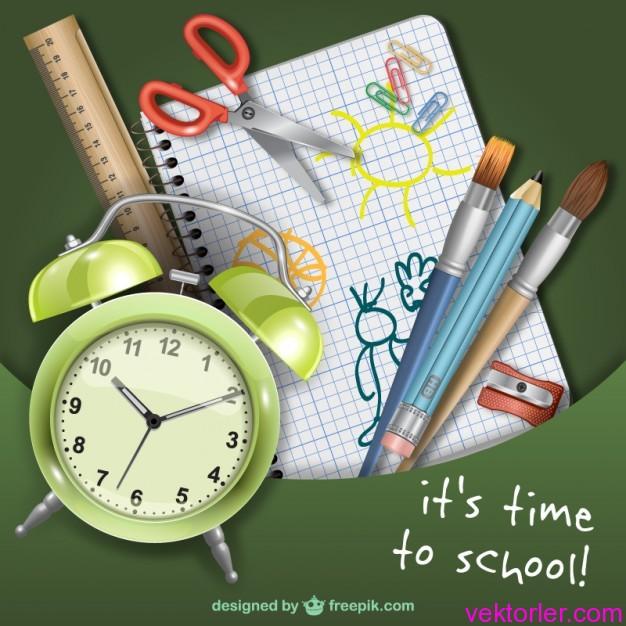 Vektörel Okul Zamanı