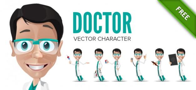 Vektörel Erkek Doktor