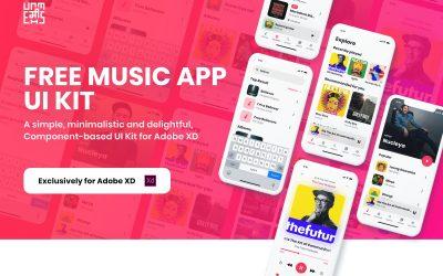 adobe-xd-ui-muzik-uygulama-arayuz-kiti