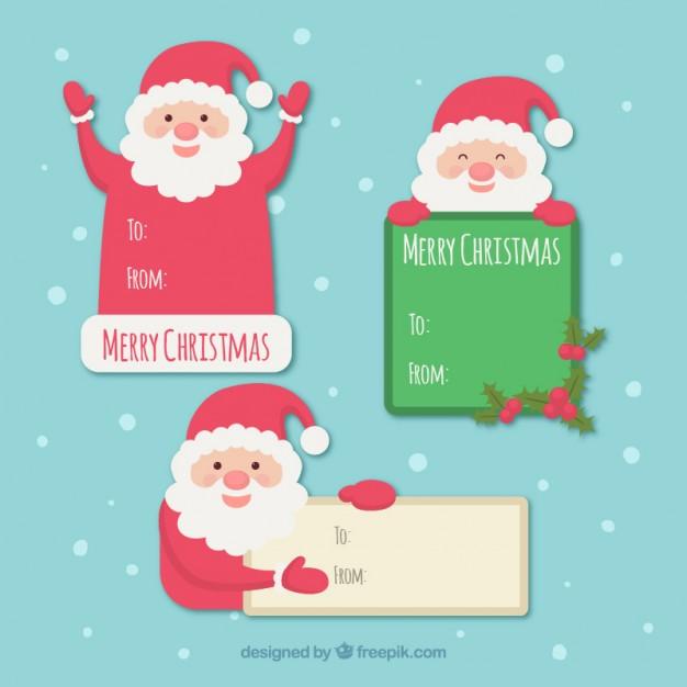 Vektörel Mutlu Noel Baba Kutlama Kartı