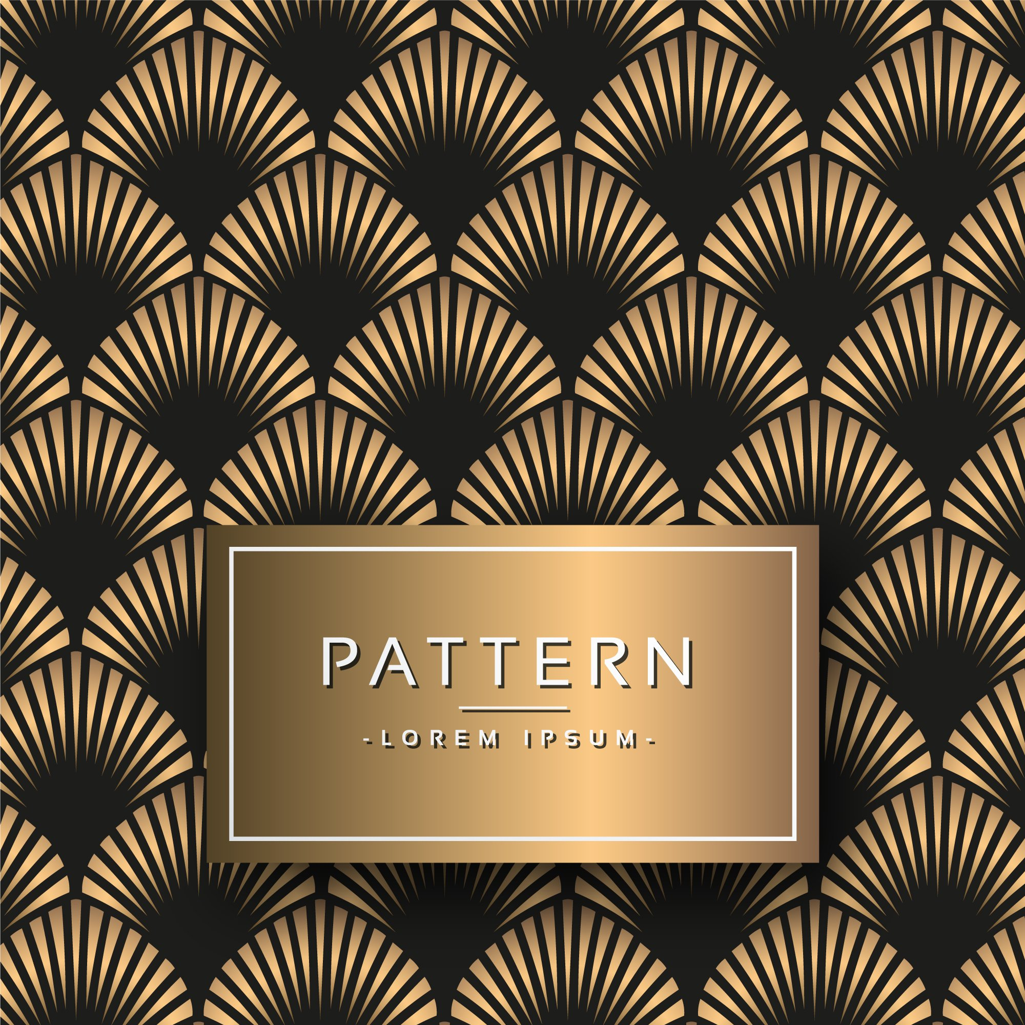 Gold and Black Art Deco Pattern