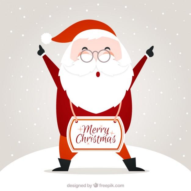 Vektörel Mutlu Yıllar Noel Baba Çizimi