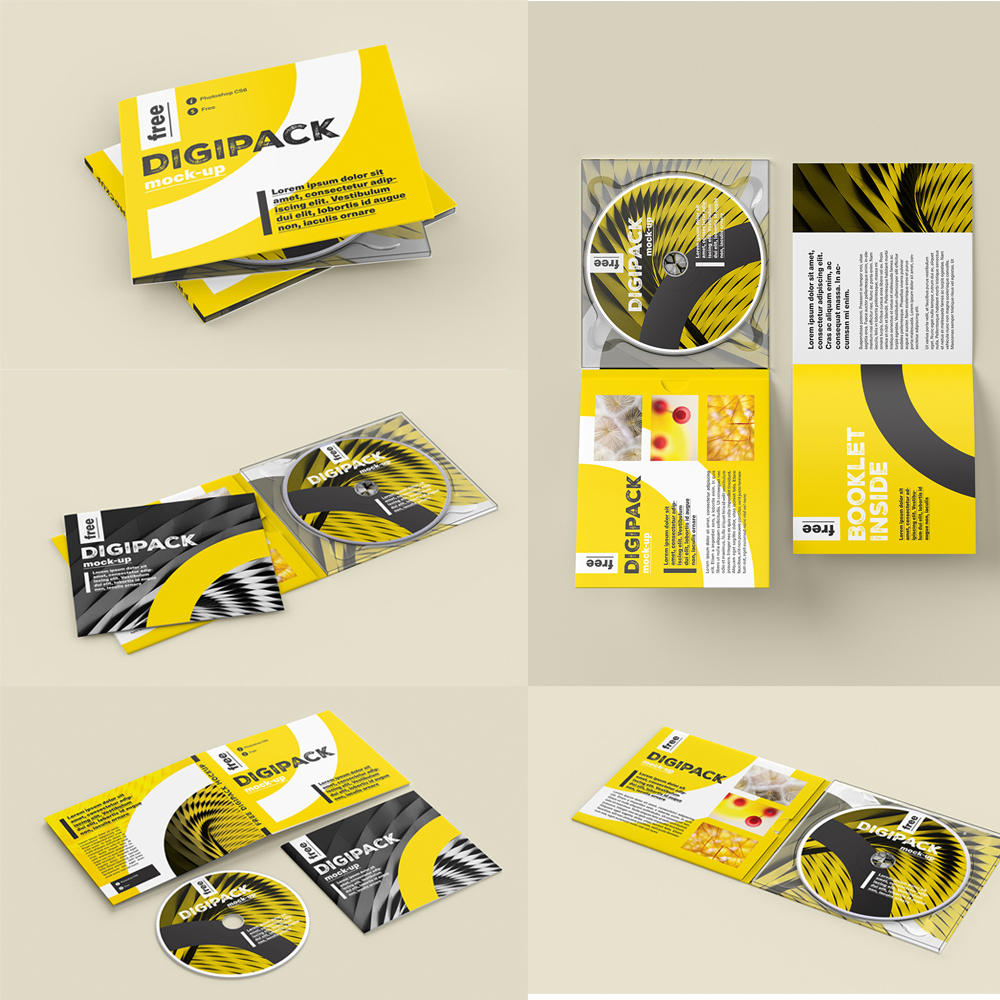 CD/DVD Kutu Mockup Tasarımı