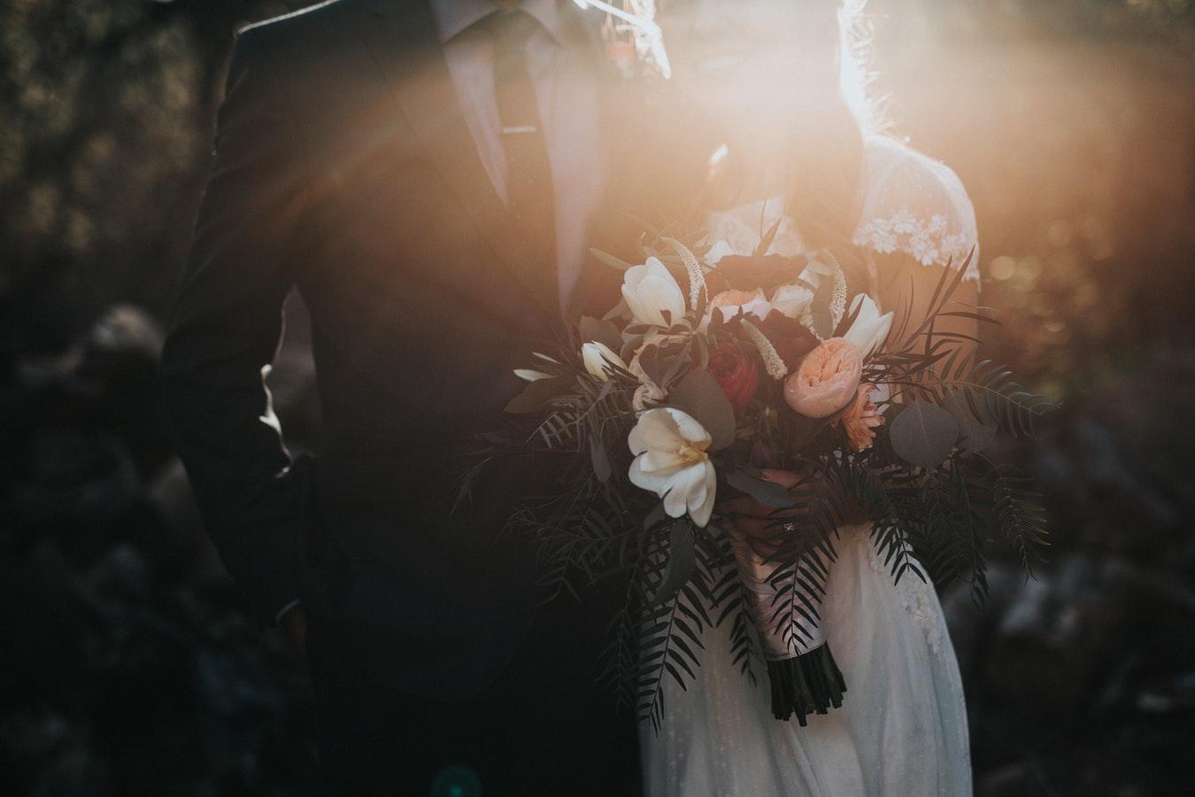 Gelin Damat Çiçek Düğün Fotoğrafı