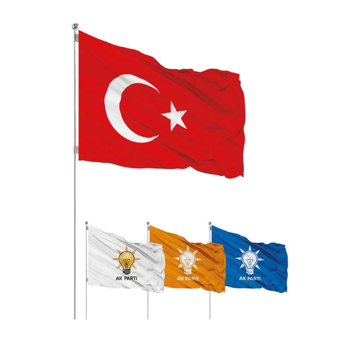 Vektörel Ak Parti Bayrakları