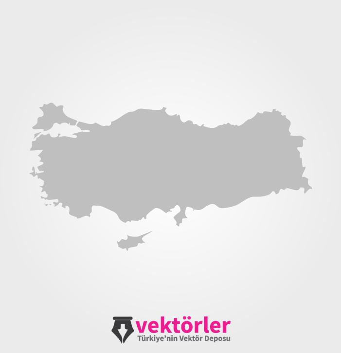 Vektörel Türkiye Haritası