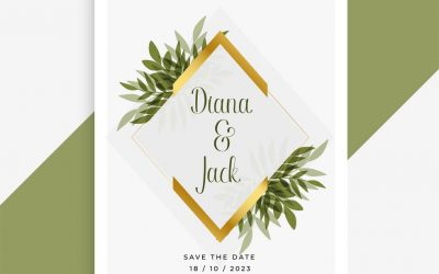 onizleme-58845-elegant-wedding-card-design-with-frame-of-leaves-vector