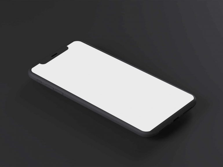 onizleme-93663-Black-iPhone-x-perspective-mockup