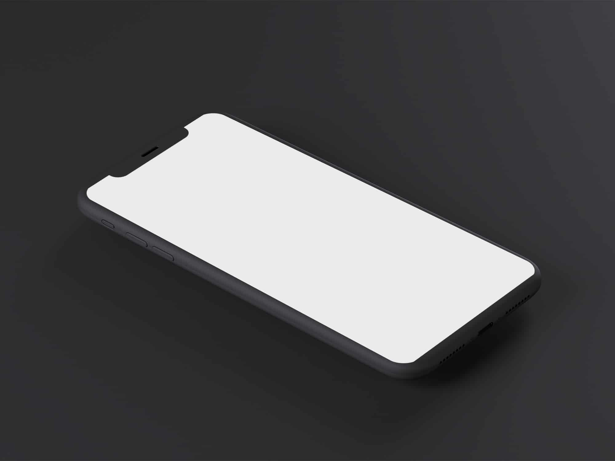 iPhone x Minimal Mockup