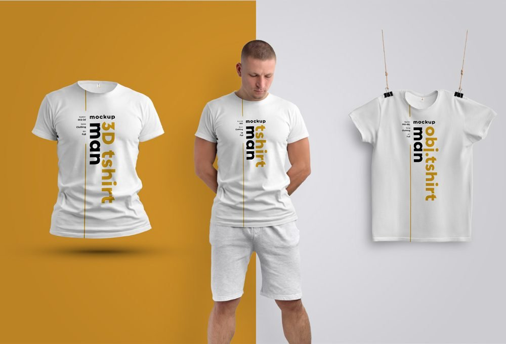 PSD Erkek Tişört Mockup Tasarımı
