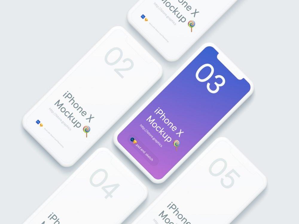 PSD iPhone X Mockup