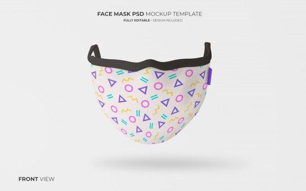 PSD Virüs Maskesi Mockup