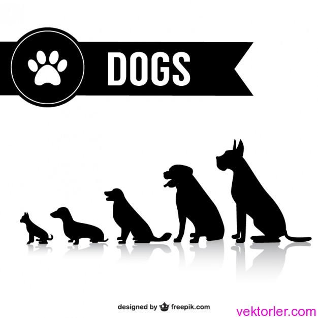 Vektörel Köpek Silületleri