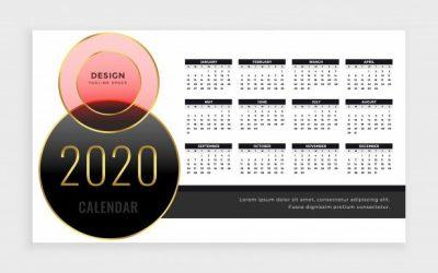 vektorel-2020-masa-takvimi-tasarimi