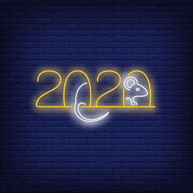 Vektörel 2020 Neon Logo