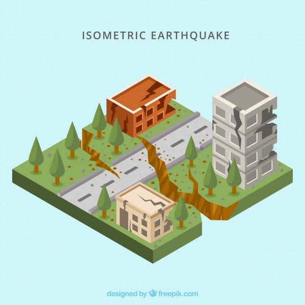 Vektörel Isometric Deprem