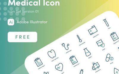 vektorel-medikal-ikon-seti