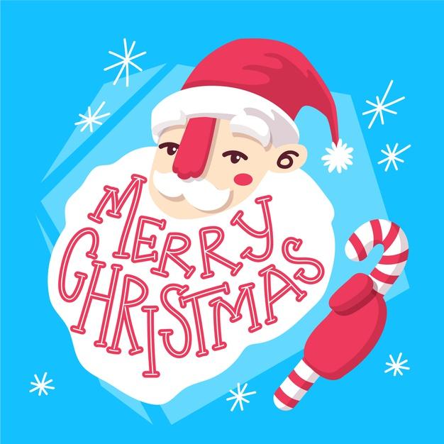 Vektörel Noel Baba Çizimi