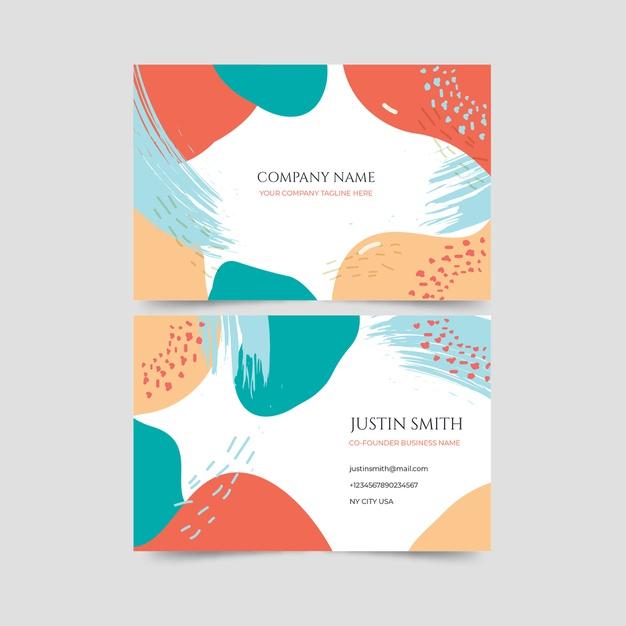 Vektörel Renkli Kartvizit Tasarımı