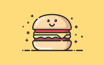 vektorel-sevimli-hamburger