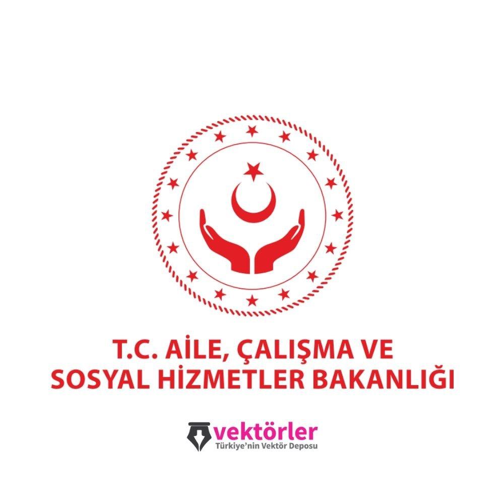 Vektörel T.C. Aile, Çalışma ve Sosyal Hizmetler Bakanlığı Logo