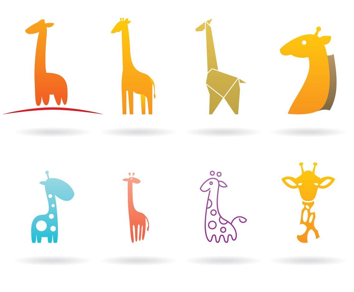 Vektörel Zürafa Logo