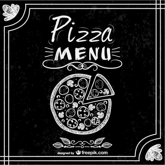 Vektörel Pizzacı Menü Tasarımı