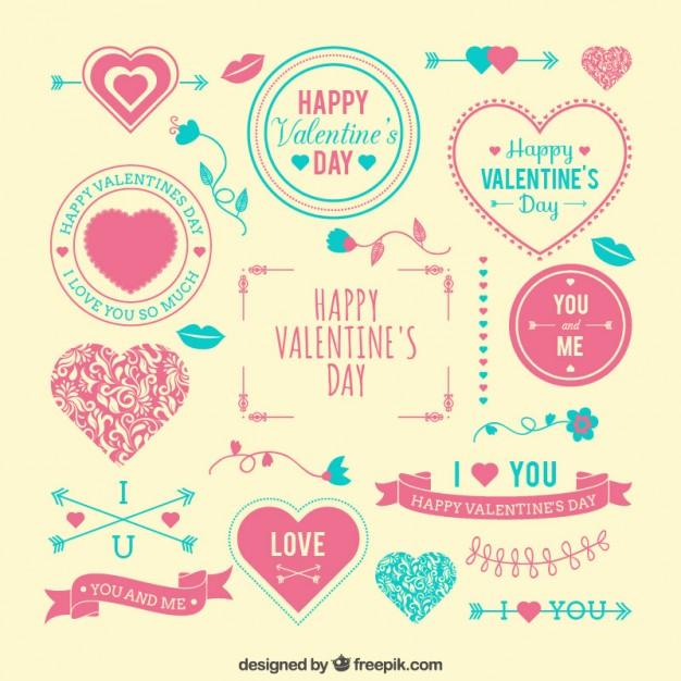 Vektörel Sevgililer Günü İkonları Seti