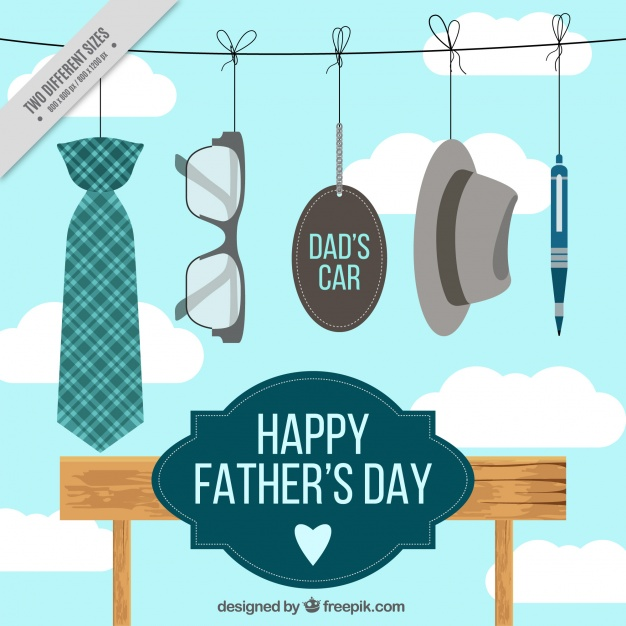 father-s-day-background-with-hanging-elements_23-2147601561