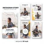 Vektörel Instagram Story Tasarımı