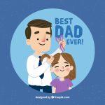 Vektörel Baba Kız Sevgisi